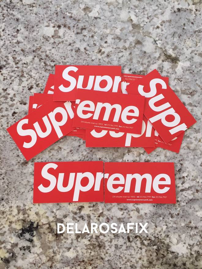 Supreme Supreme Business Cards From Soho NY Size one size - Supreme ...