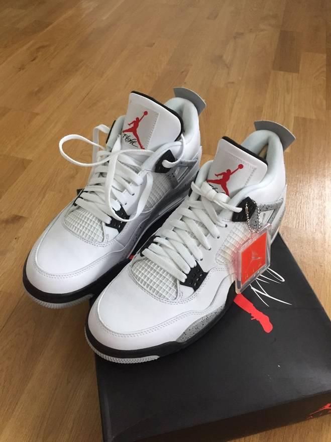 caaa019be36a ... coupon jordan brand air jordan retro 4 cement grey mens shoes size 11  size us 11