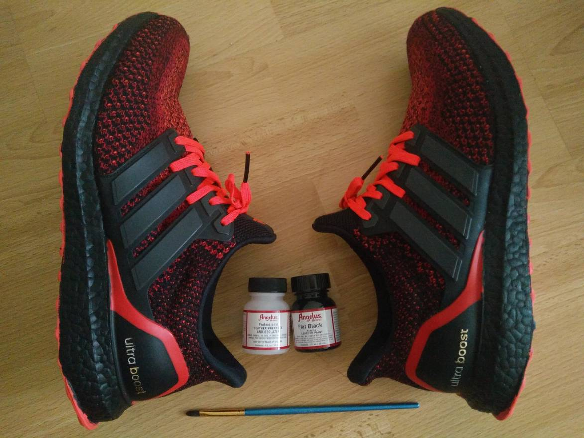 7b9facf94462 ... where to buy adidas ultra boost including paint solar red custom black  sole size us 10 ...