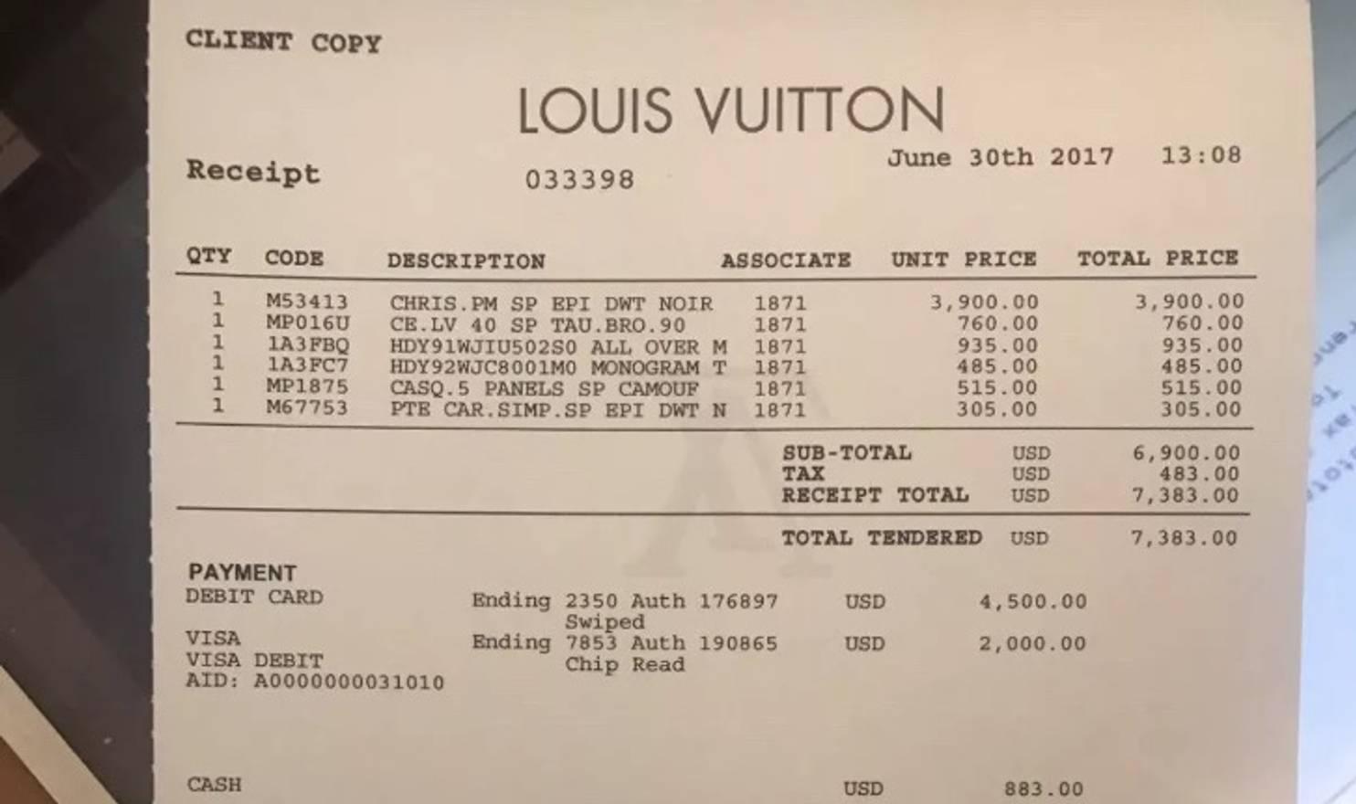 Supreme X Louis Vuitton Hoodie Size US M EU 48 50 2