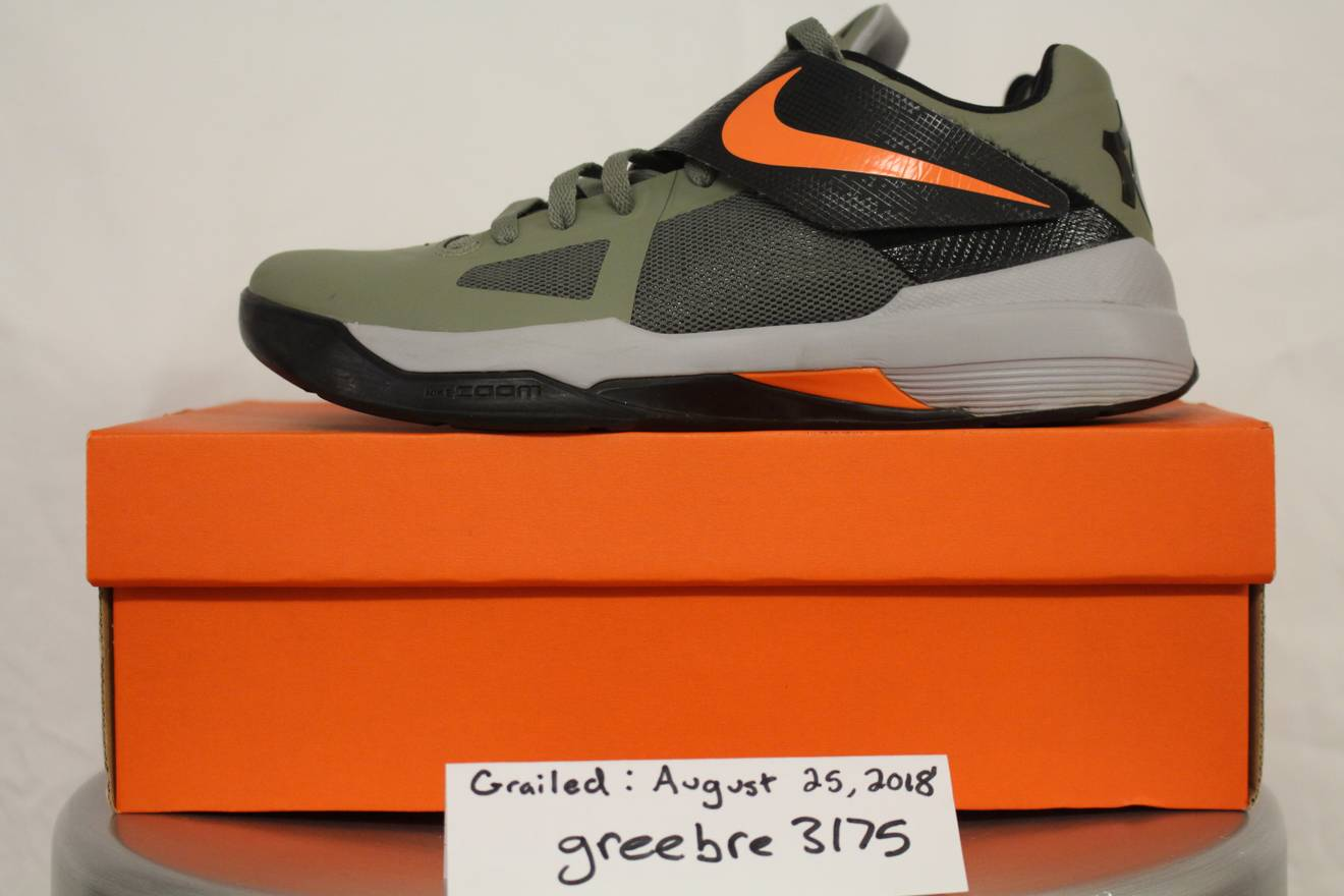 a535bdeef53d ... Kevin Durant Nike Kevin Durant KD IV 4 Rouge Green Undefeated Sz. 9 Size  US ...