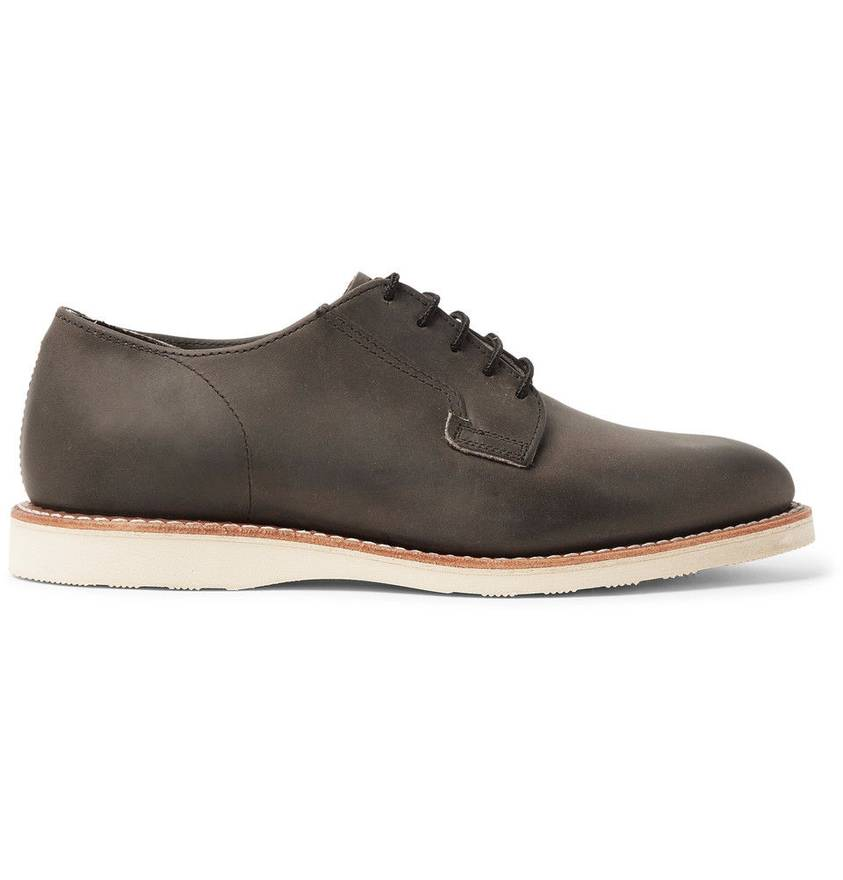 Red Wing Mens Postman Oxford 3119 Charcoal Leather Shoes 43 EU