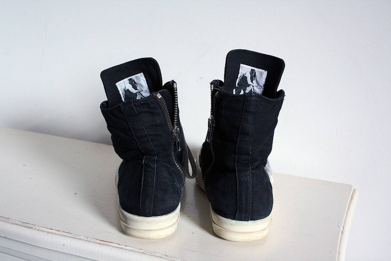 rick owens drkshdw canvas ramones size 8 for sale grailed