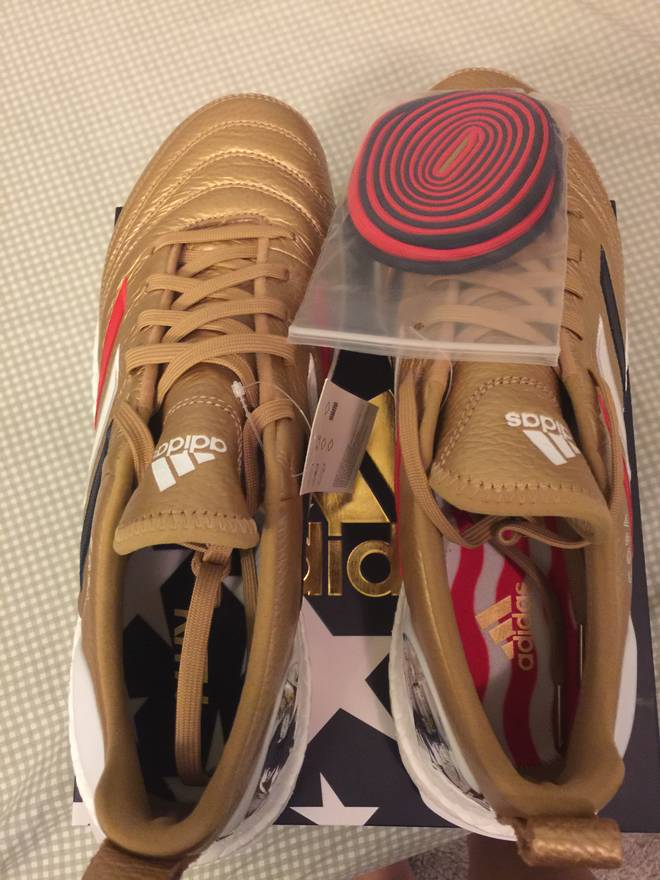 brand new 4d282 f5448 ... low price adidas adidas copa mundial 18 ultra boost kith golden goal  size us 9.5 eu