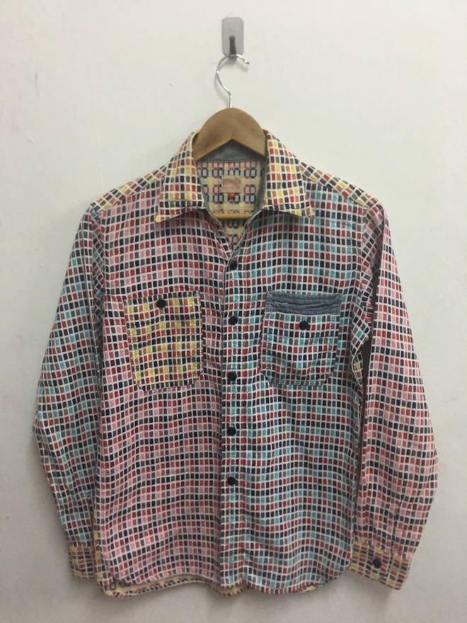 Creighton Company Ls Multi Colour On Down Shirt Size Us M Eu 48
