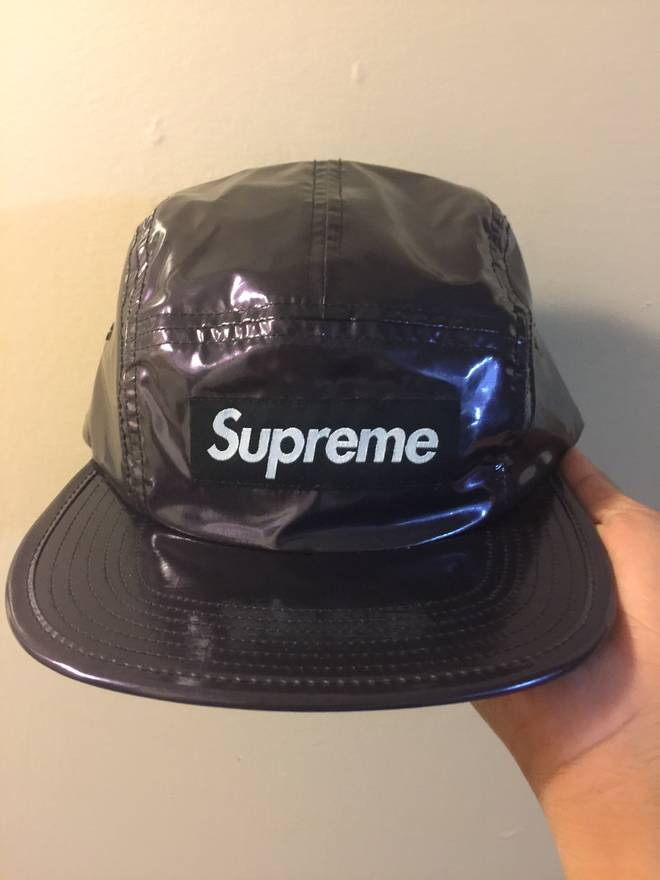 51785bcd ... closeout supreme supreme glossy ripstop camp hat purple size one size  b241b 2544a ...