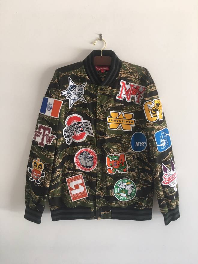 Supreme ss07 ncaa cease desist varsity jacket size l bombers for supreme ss07 ncaa cease desist varsity jacket size us l eu 52 54 thecheapjerseys Choice Image