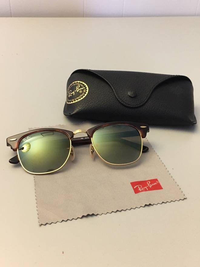 34d83fa97df28e ... france rayban clubmaster flash lenses gradient tortoise green size one  size 747f5 a6672