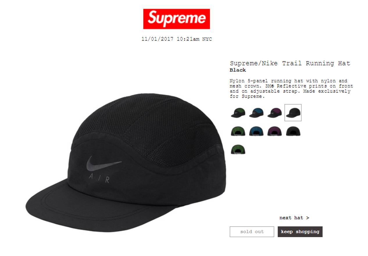 australia supreme supreme nike trail running hat black size one size b5092  9c4da 1d46b5810fa