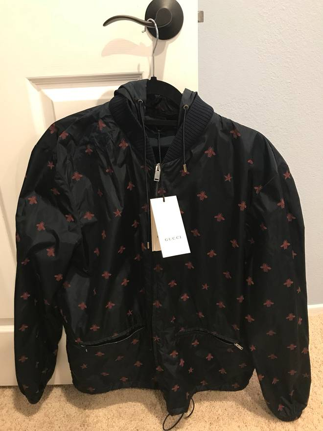 gucci gucci bee jacket size m light jackets for sale grailed