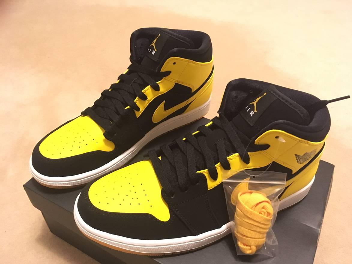 jordan brand air jordan 1 retro bmp yellow black size us 10  eu 43