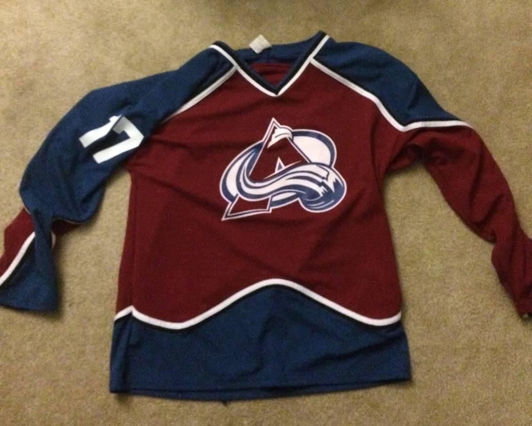 ... discount code for hockey jersey colorado avalanche jersey size us xl eu  56 4 0d672 991c8 6c59e1571
