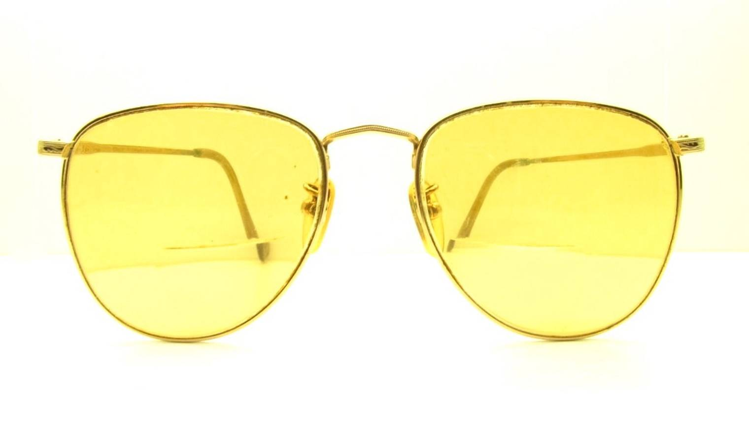 Ralph Lauren Ralph Lauren Vintage Gold Aviator Frames Yellow Lens ...