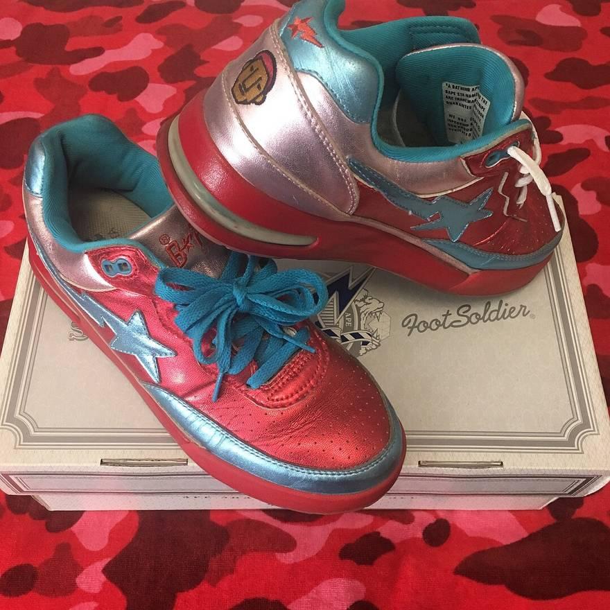 "df1ffa5d9859 ... Bape 2006 BAPE x Pharrell Williams ""In My Mind"" RoadSTA Shoes Size US  8.5 ..."