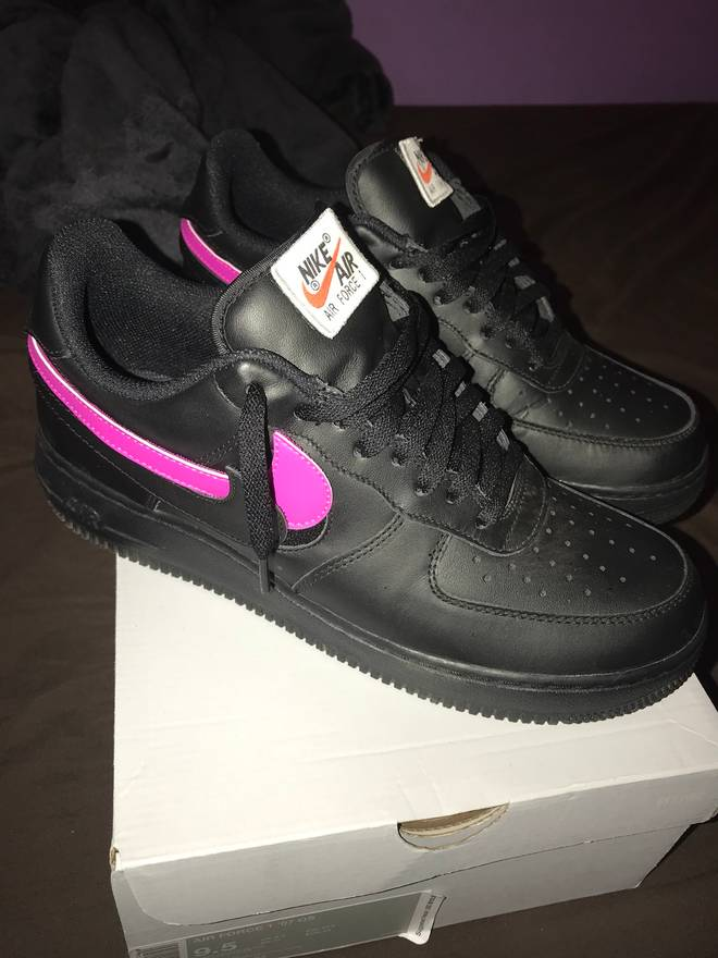 the latest 5240b 2ad8f release date nike air force 1 all black star pack 709db 05e6d
