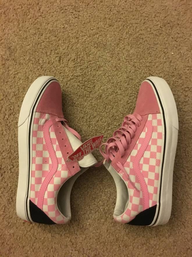 Vans Old SKool Pink Checkered Custom Size 9 - Low-Top Sneakers for ...
