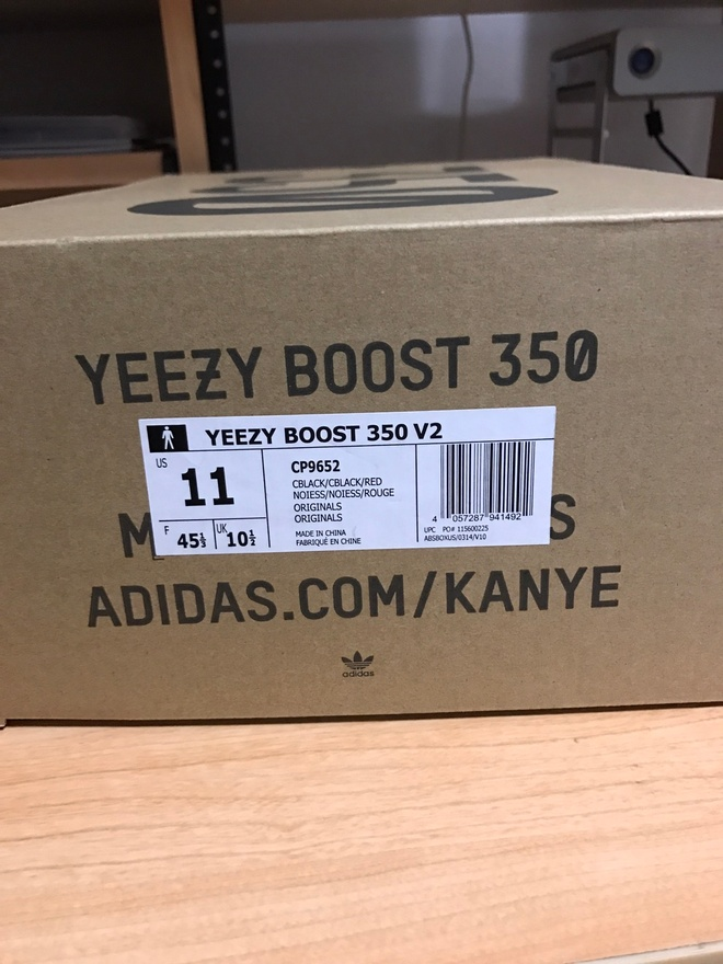Yeezy Boost 350 V 2 Core Black and Red Bred Size 10