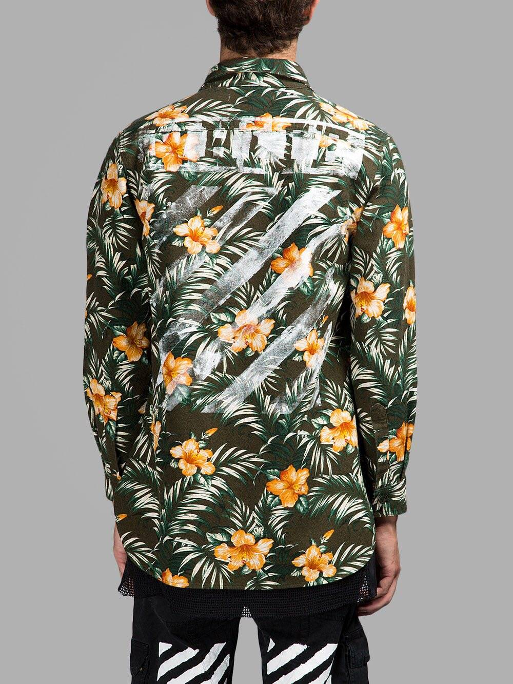 Off-White Pattern floral shirt