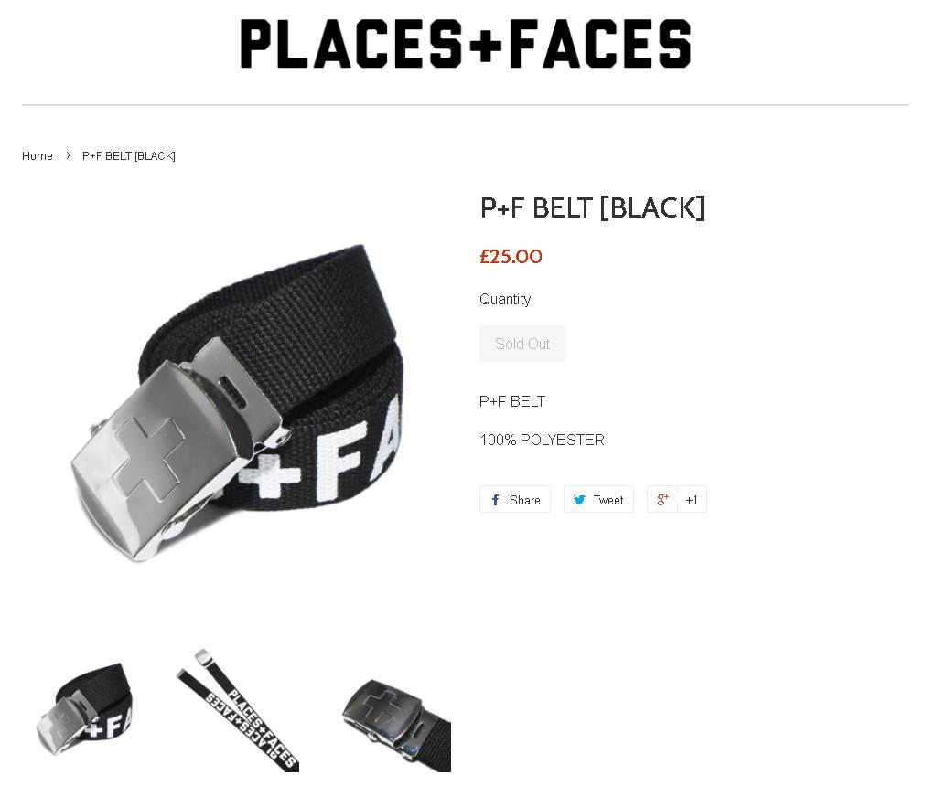 Places Faces Belt