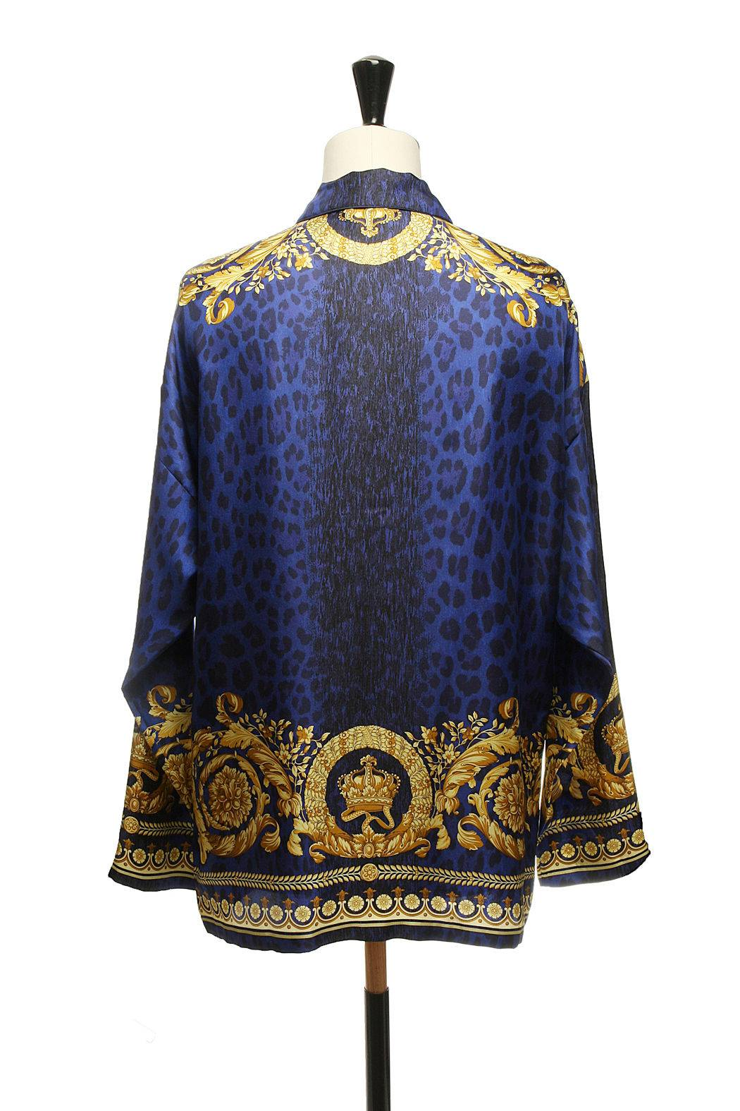 Versace Floral Print Silk Top Outlet Genuine Discount Sale Online luFHhT6k