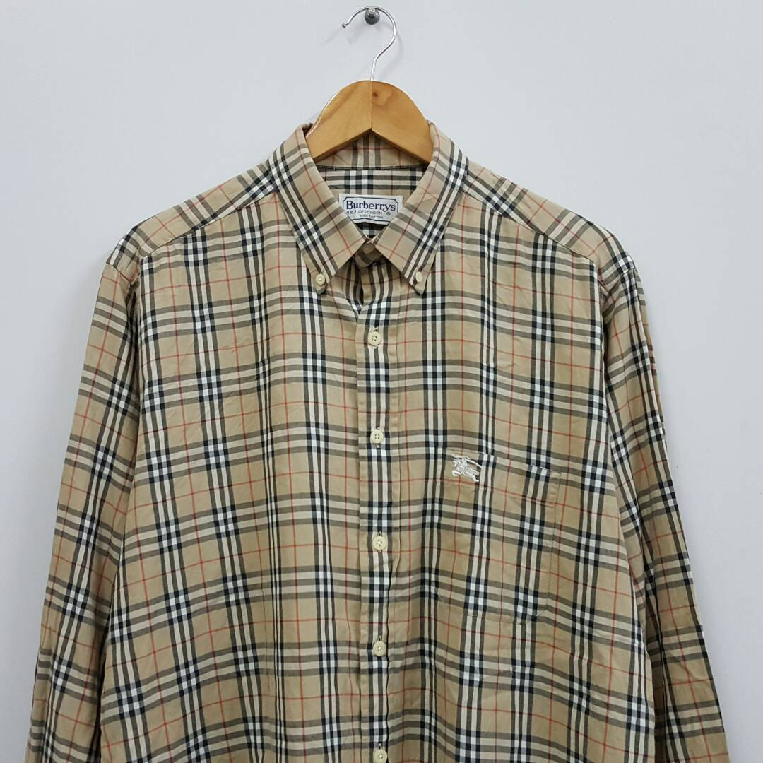 Burberrys Nova Chek Plaid Made in England Shirt