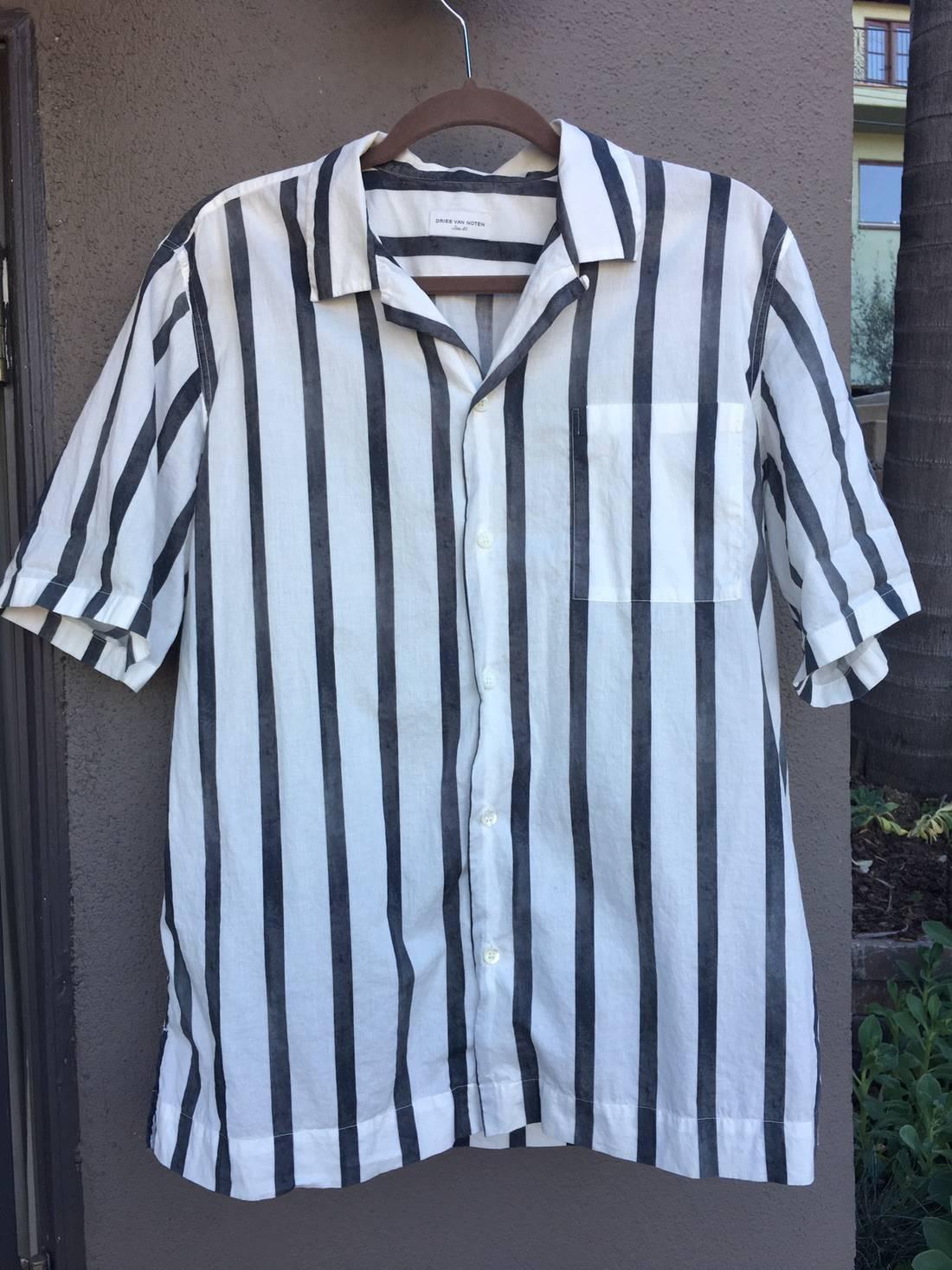 Low Shipping Discount Ebay Dries Van Noten Silk Short Sleeve Top Sale Collections mK86Ko