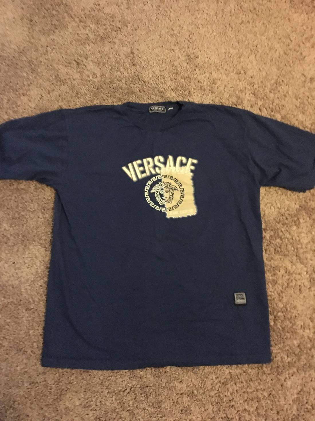 vintage VERSACE JEANS COUTURE italy fullprint polo shirt.. huRZpt