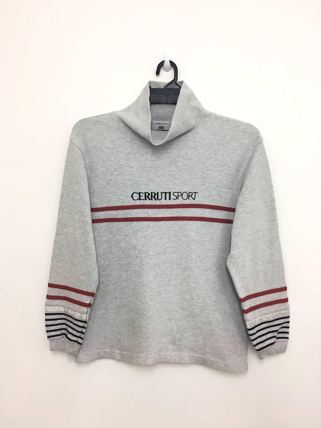 Sale Vintage CERRUTI SPORT Sweatshirt Turtle Neck Medium Size on tag Wv4D7q