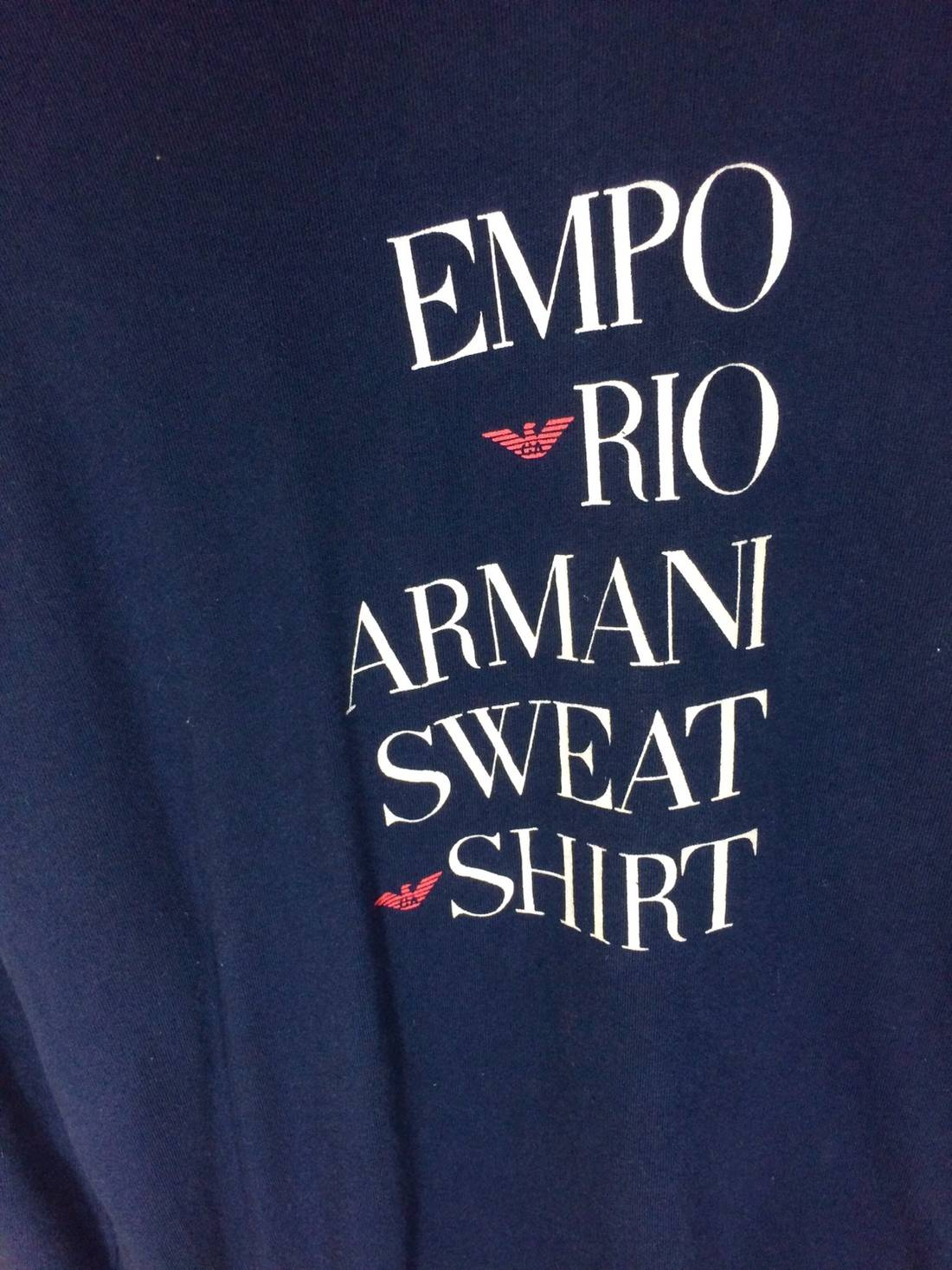 Rare Design Emporio Armani Big Spell Out Sweatshirt Tsv3pyNXm