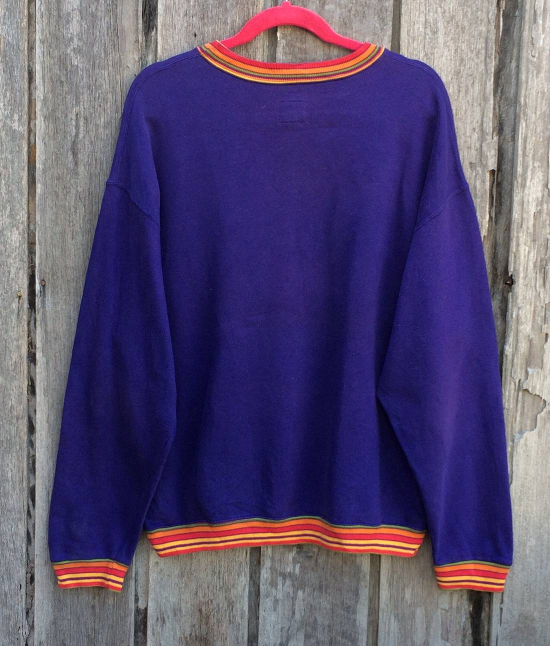 Sale!! Sale!! Vintage United Colour Of Benetton Sweatshirt Spell Out Rare UaW431n