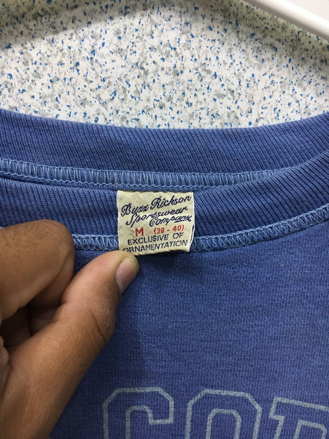 RARE !! Vintage Buzz Rickson Sportswear Company Air Cops us Army Big Logo 2voPu74t
