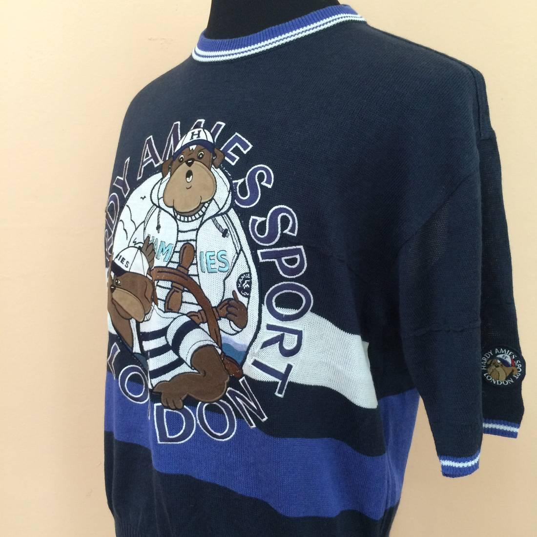 Vintage Hardy Amies Sport Sweatshirt Full Embroidery Design GSFx4u1bc