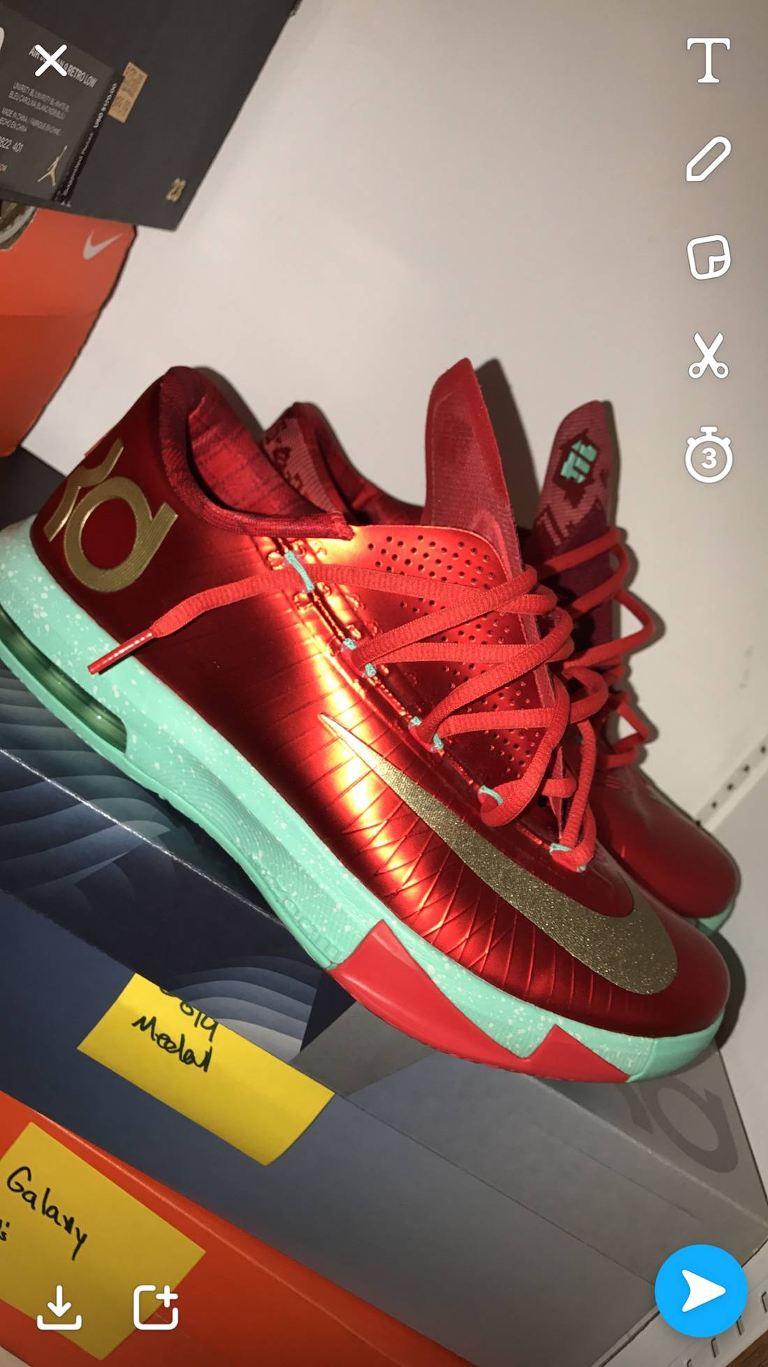 Nike Nike KD 6 Christmas Size 9.5 - Low-Top Sneakers for Sale - Grailed