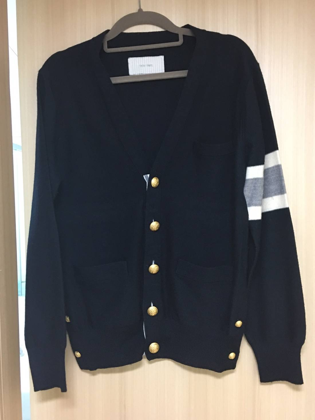 Thom Browne Navy Knit Cardigan With Gold Buttons Very Limited Size ...