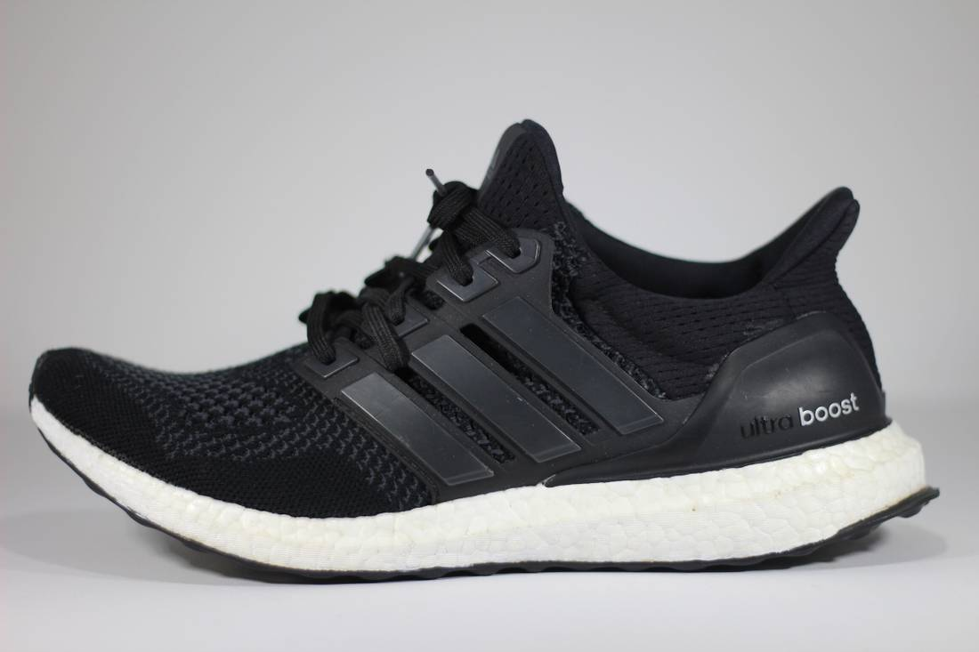 adidas ultra boost 1 0 core black size 10 low top sneakers for