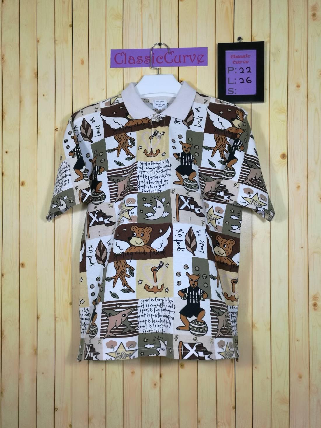 SALE!! Jc De CastelBajac Fullprint Tshirt Nice Design Size S