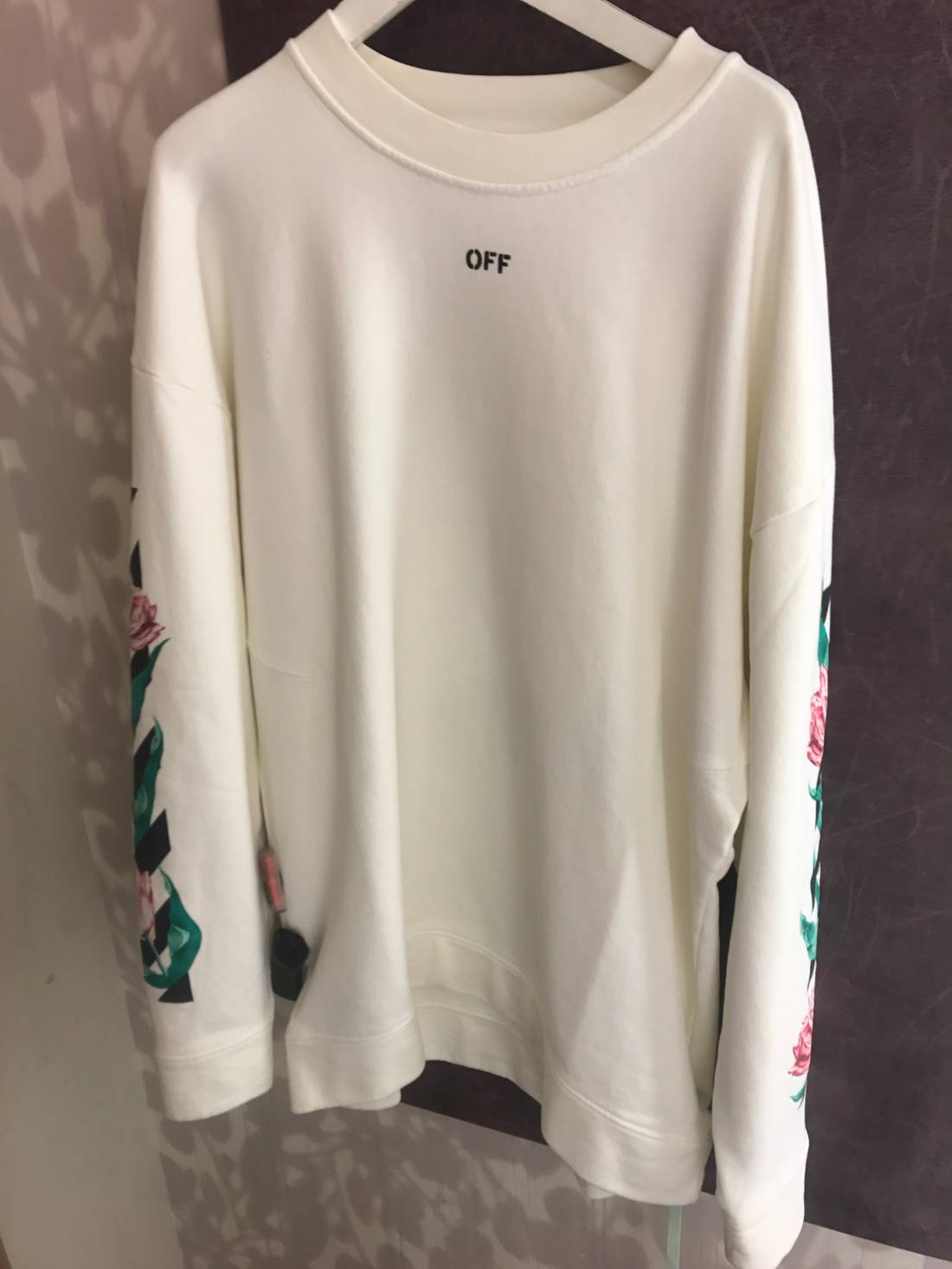 Off white off white flower crewneck oversized size xxl sweaters off white off white flower crewneck oversized size us xxl eu 58 mightylinksfo
