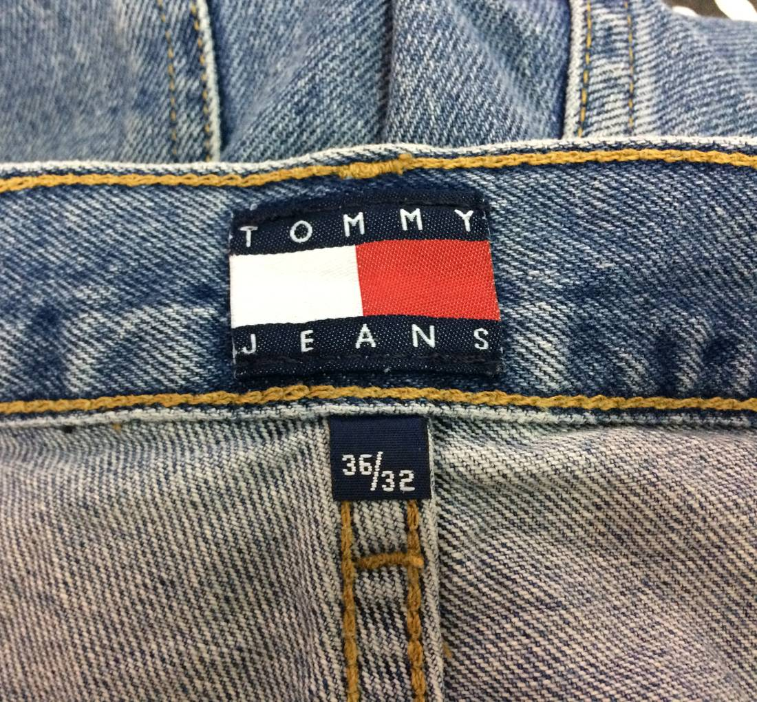 Vintage Tommy Hilfiger Jeans Swag 90s Hip Hop Style Big Size Streetwear Street Fashion Rare