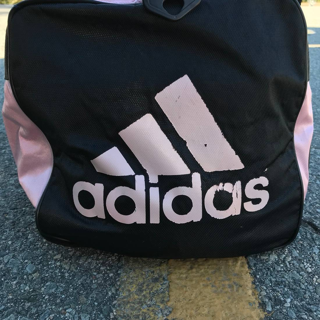 92d89d1cb7 Vintage Adidas Leather Gym Bag