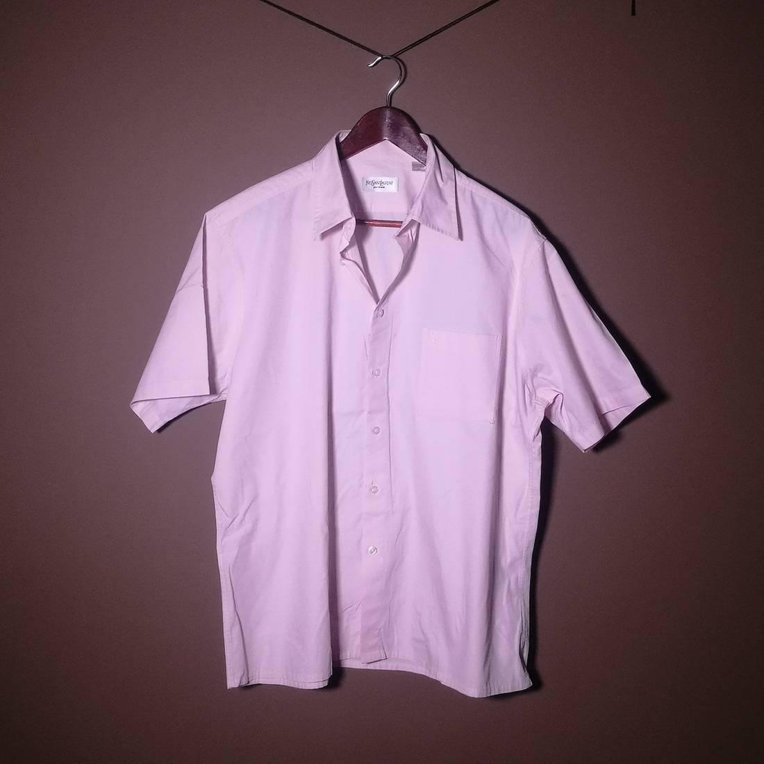 Saint Laurent Paris Ysl Yves Saint Laurent Baby Pink Casual Shirt