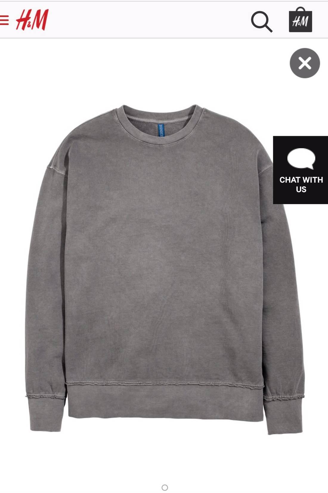 h m h m oversized dark grey sweatshirt size m sweatshirts