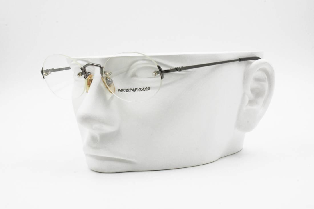 Emporio Armani Emporio Armani Vintage Rx frame rimless eyeglasses ...