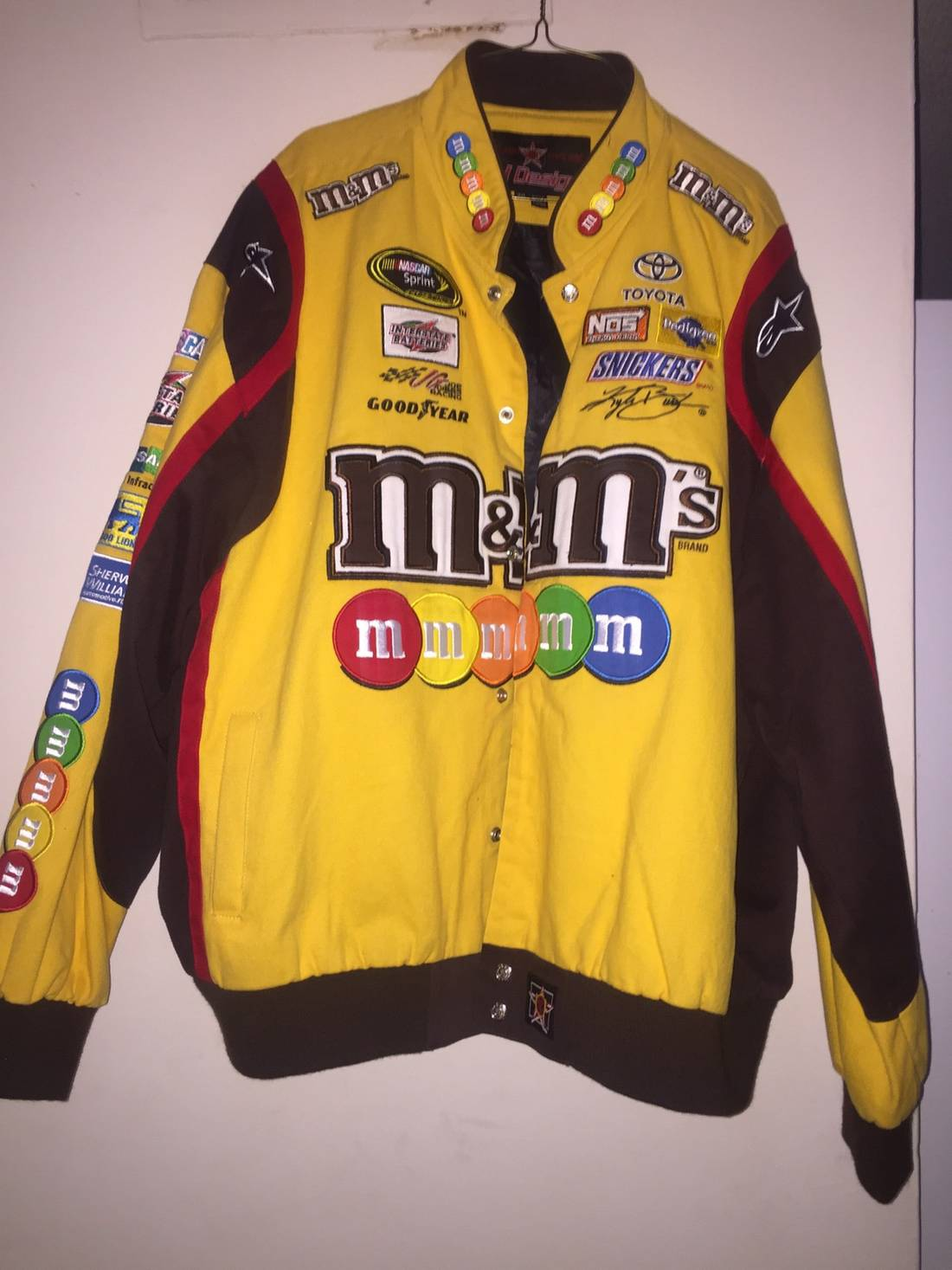 jh design kyle busch racing jacket size xxl heavy coats for sale