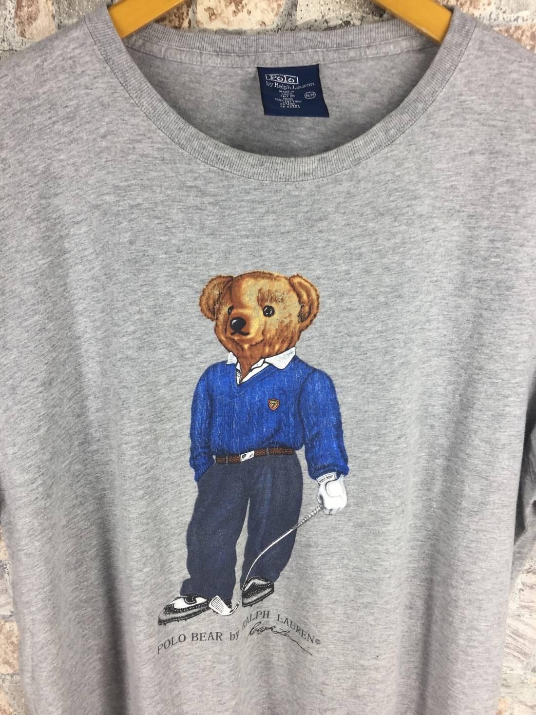 POLO BEAR T shirt Medium Polo Ralph Lauren Vintage 90s Polo Sport Usa Bear  Play Golf 48bd4a04cdb