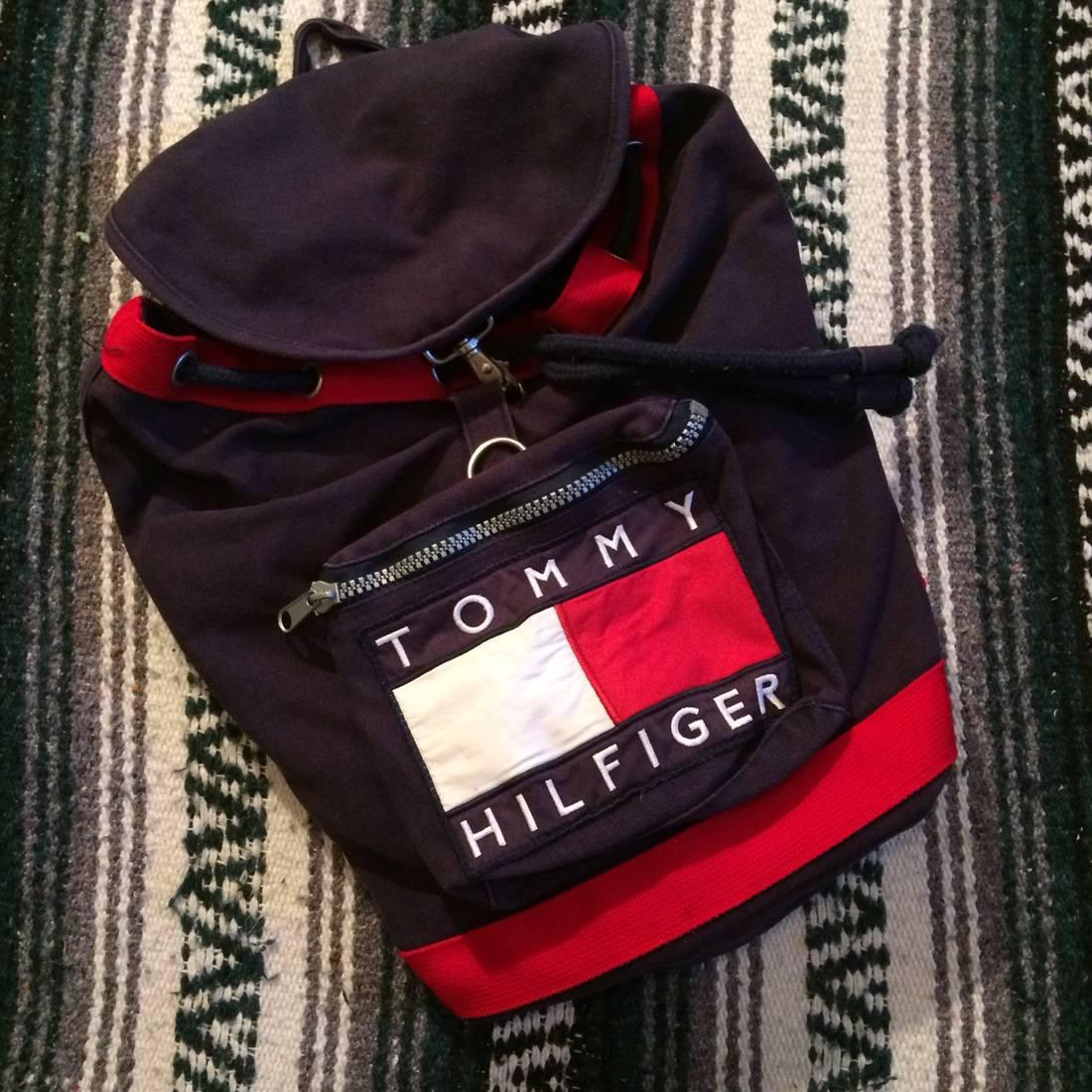 bbfec73d1e24 ... Vintage 90s Tommy Hilfiger Backpack watch 7abc0 491a4  LA Fitness Bags  - Gym Bag and cap ...