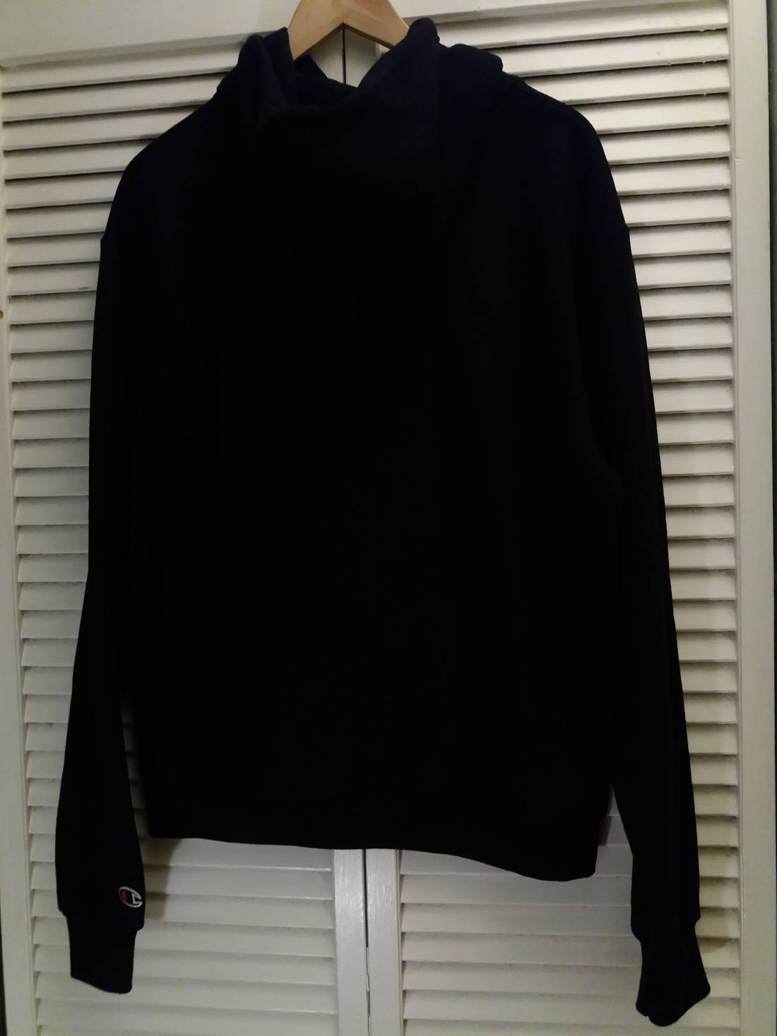 Champion All Black Champion Hoodie Pullover Sweatshirt Size M ...