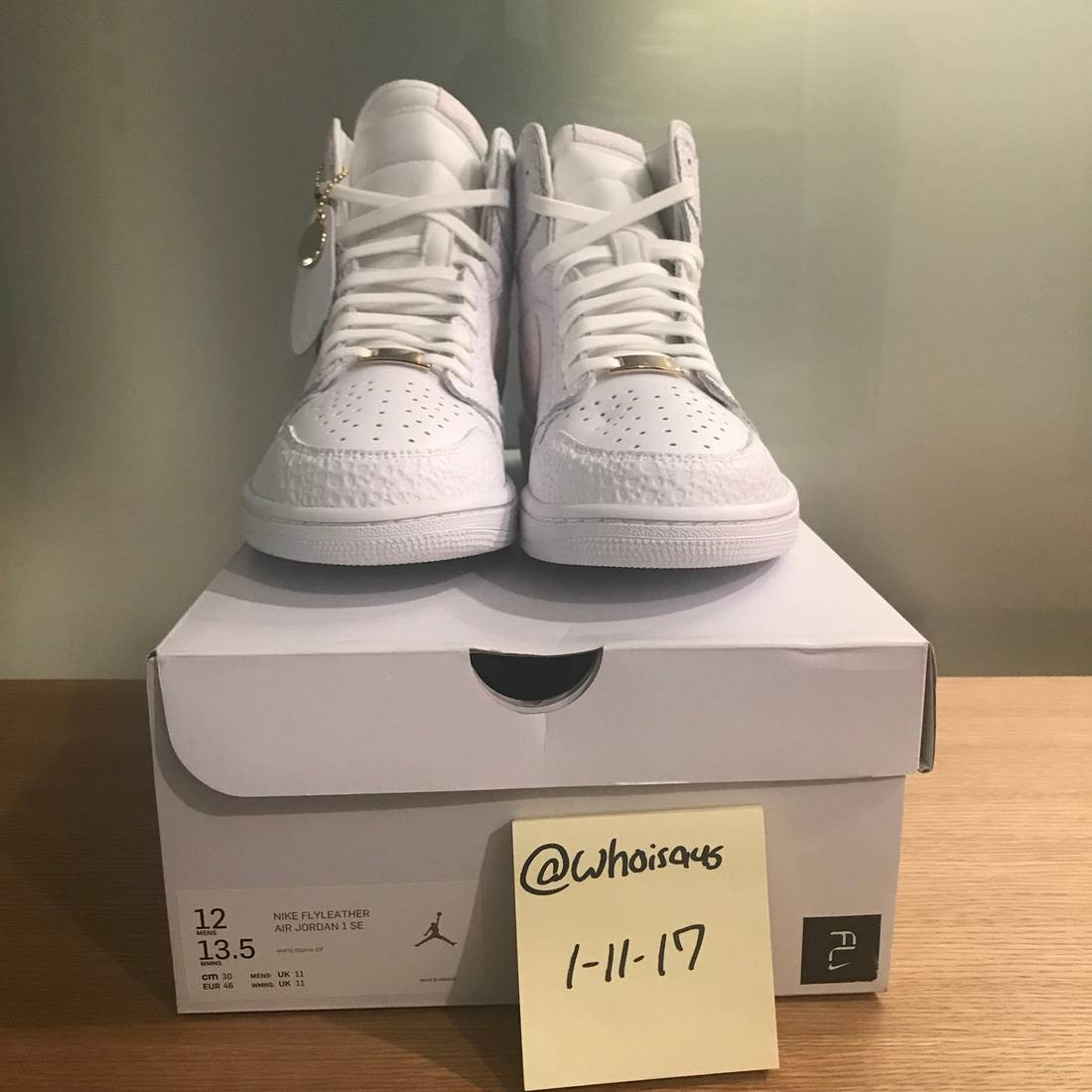986d2e1571100 Jordan Brand Air Jordan 1 Size US 12 EU 45 - 2 . Nike Flyleather Air Force 1   Nike Tennis Classic Flyleather White Rose Gold . ...