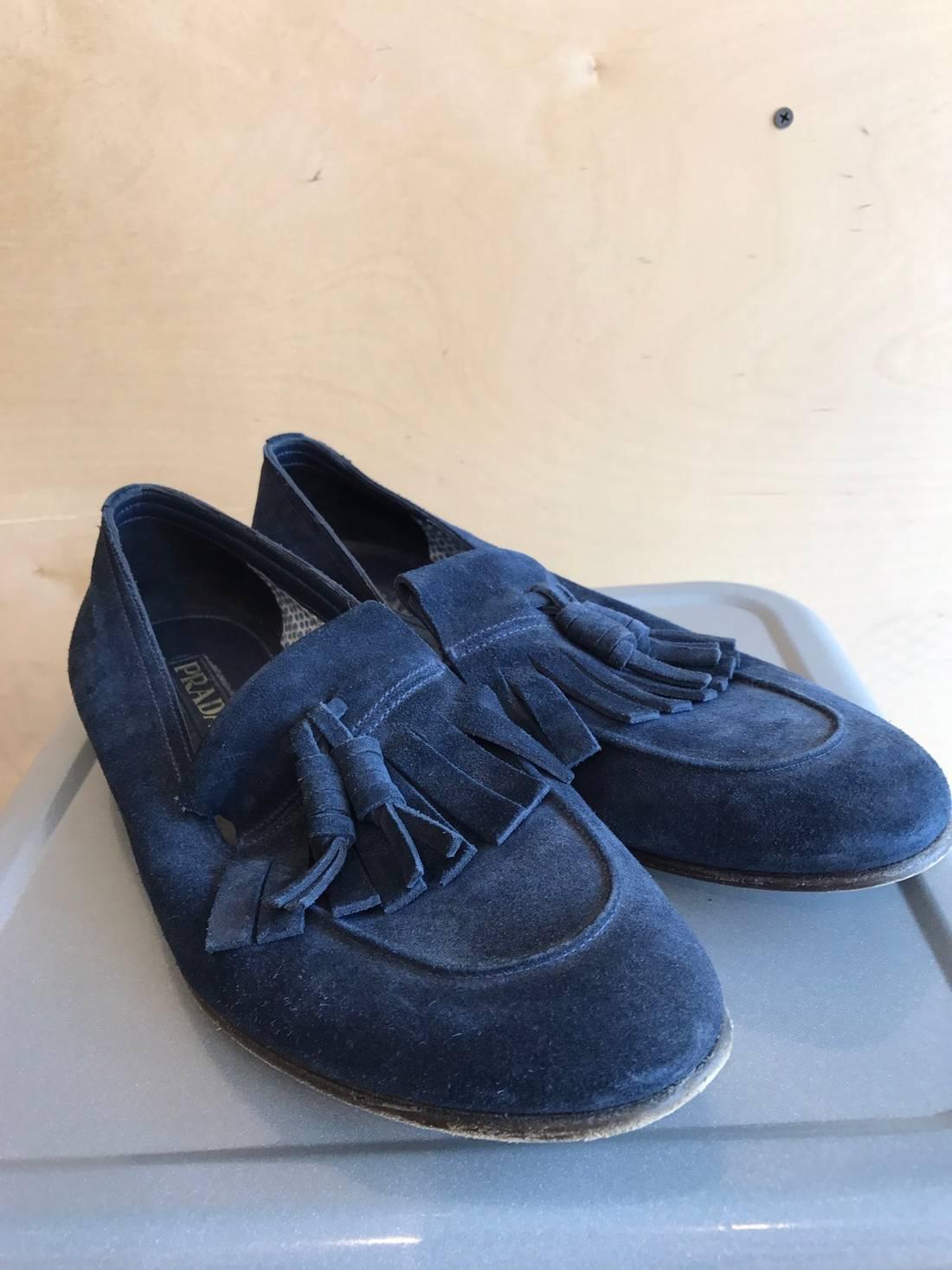 a16f5d70a55 cheap prada blue casual loafers men shoes free postage 1019073 b6347 3c4ff   where to buy prada blue suede tassel loafer size us 8 eu 41 1 56970 e09b8