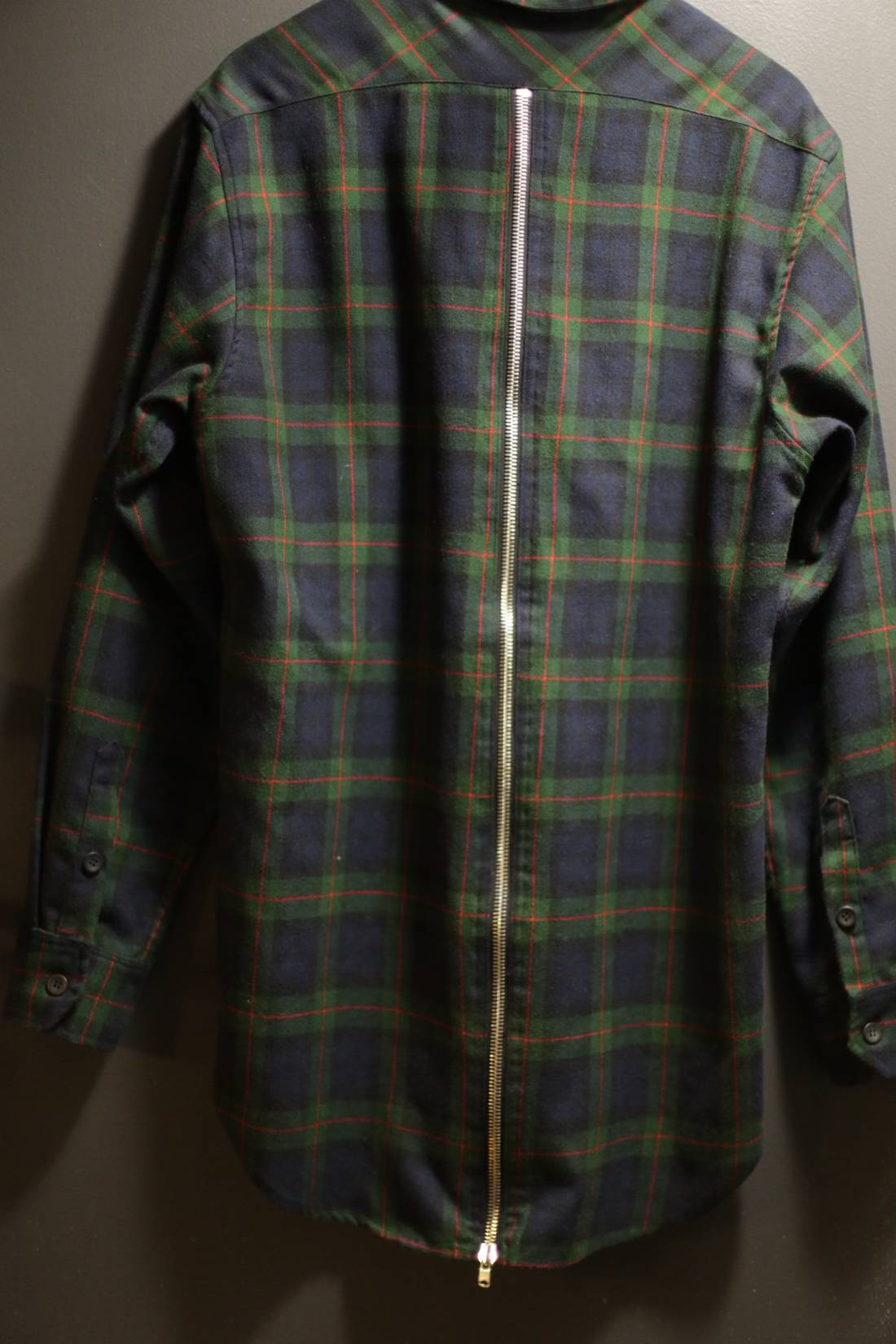 Fear Of God 3rd Collection Navy Long Sleeve Back Zip Flannel Size Xl Flanel Us Eu