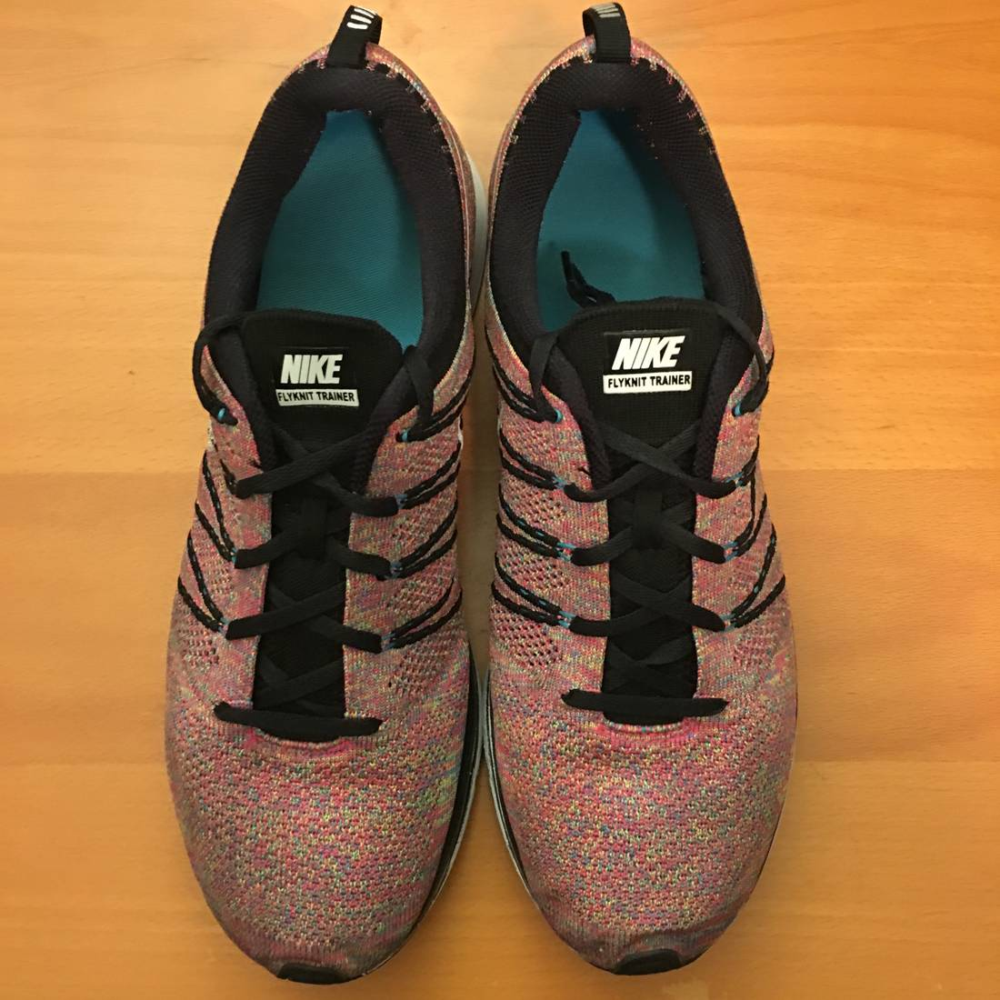 c430a3544f1f3 best price nike 2013 nike flyknit trainer multicolor sz 13 black white blue  .